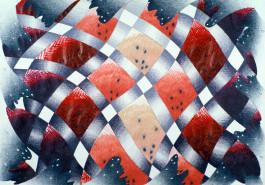 """Summer Crisscross, 18"""" x 24"""", 1979"""