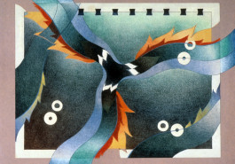 """Whirling I / The Beginning, 18"""" x 24"""", 1986"""