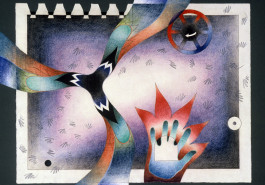 "Whirling II, 25 x 31"", 1986"
