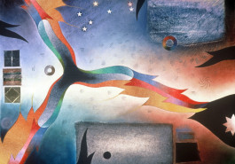 """Whirling IV / The Night, 26"""" x 32"""", 1988"""