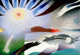 "Sun / Moon Radiant, 17"" x 23"", 1988"