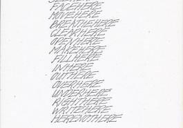 "Wordwork 1975, 8 1/2"" x 11"", 1975"