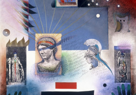 "Athena II, 26"" x 32"", 1987"