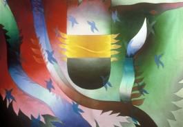 """The Serpent III, 56"""" x 68"""", 1987"""