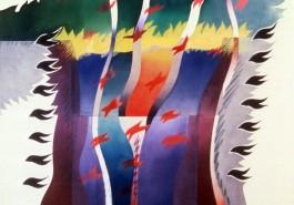 "Foot Prince / The Path, 56"" x 68"", 1981"