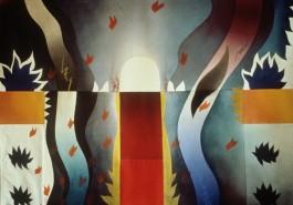 "The Warrior / Lotus, 56"" x 68"", 1986"