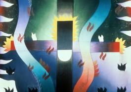 "The Warrior / Star, 56"" x 68"", 1984"