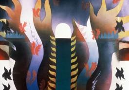 """The Warrior / Moon, 56"""" x 68"""", 1984"""