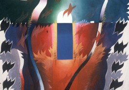 "The Warrior / Life Force, 56"" x 68"", 1983"