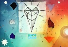 """Mineral Kingdom, 36"""" x 24"""", 2013"""