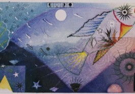"""Leaping, 11"""" x 30"""", 1998"""