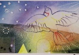 """Soaring, 11"""" x 30"""", 1998"""